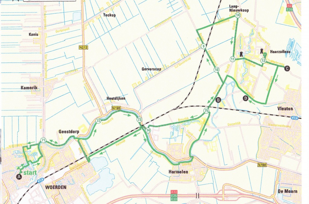 map fietsroute H-W web