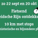 za 22 sept | Historische Fietstocht (10 km) o.a. langs Romeinen, Ridders en Rozenkwekers