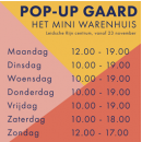 23 nov t/m 24 dec Pop Up Gaard