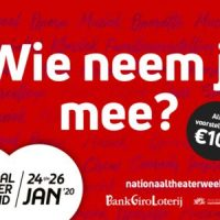24 t/m 26 jan Nat. Theater Weekend, ook in Podium Hoge Woerd
